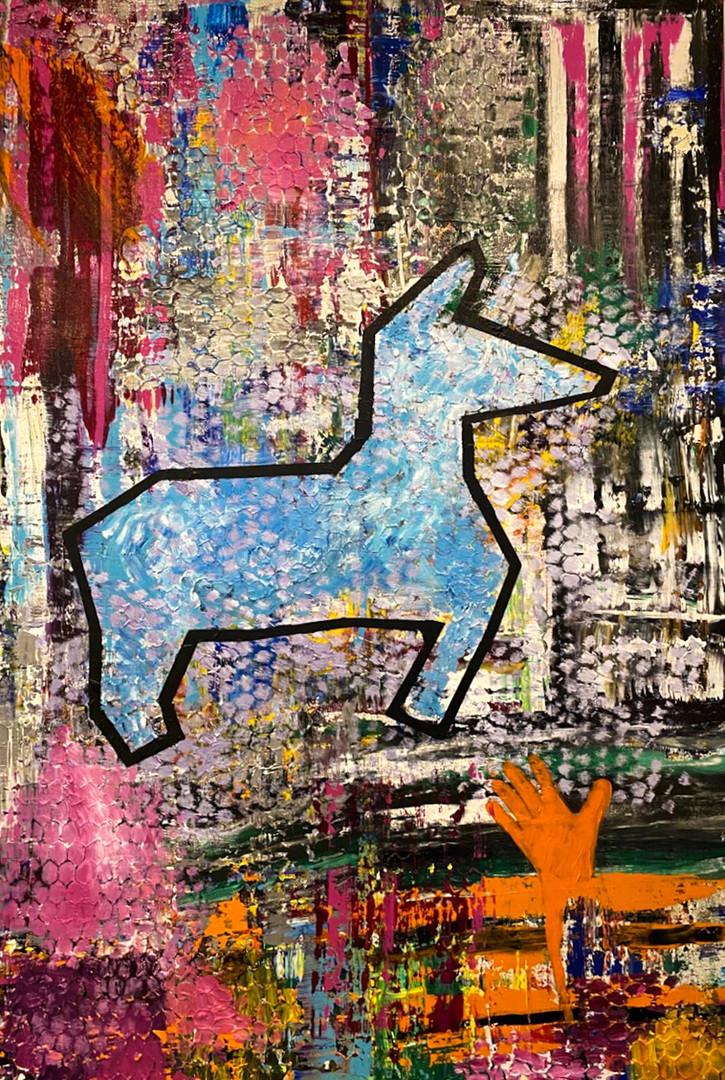 SOLD. 48'' x 72'' acrylic on canvas
