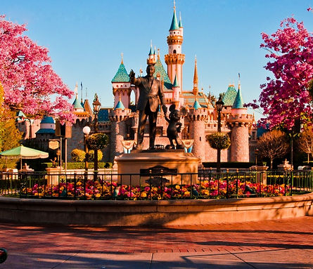 Partner's Statue and Sleeping Beauty Castle, Disneyland