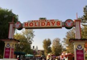 Festival of Holidays Entrance at Disney California Adventure
