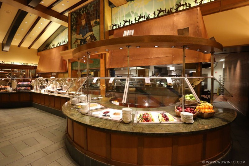 Buffet of Disney's Storyteller's Cafe in the Grand Californian