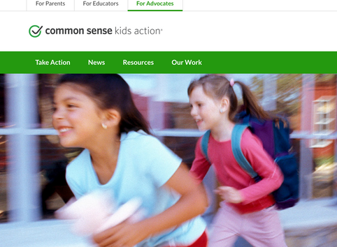 "Become an advocate for kids digital well-being at ""Common Sense Kids Action""."