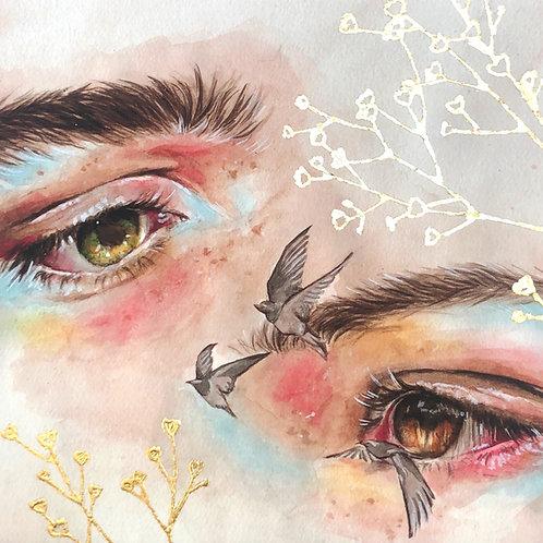 Eyes || Gilded Fine Art Print
