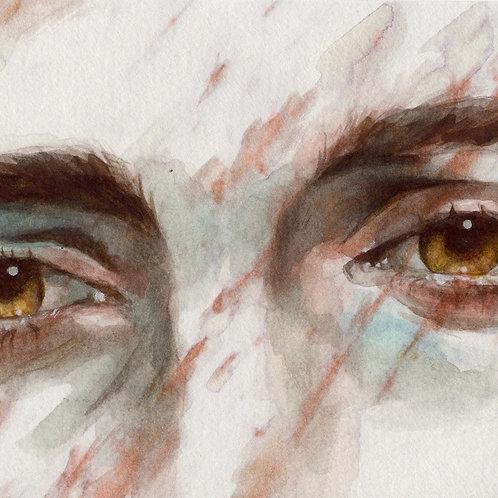 Hazel Eyes Study // Original Watercolour