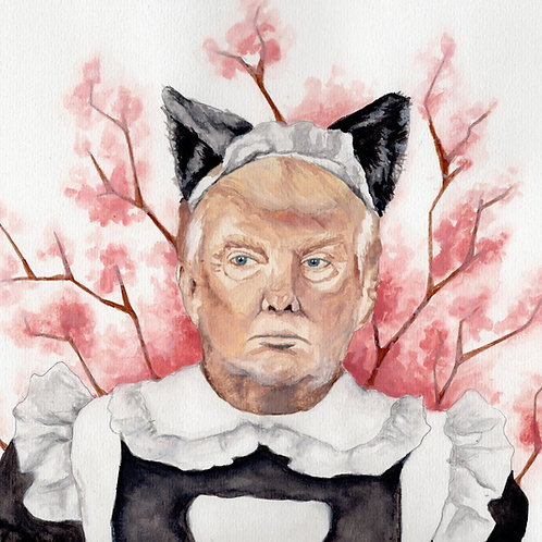 Make America Kawaii Again // Original Watercolour