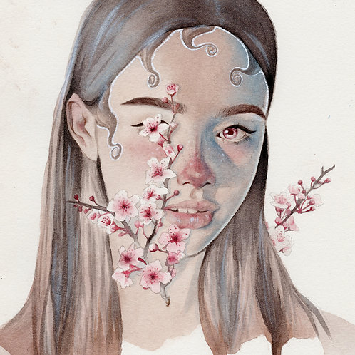 Cherry Blossoms // Original Watercolour
