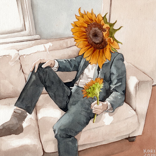 Sunflowers // Original Watercolour