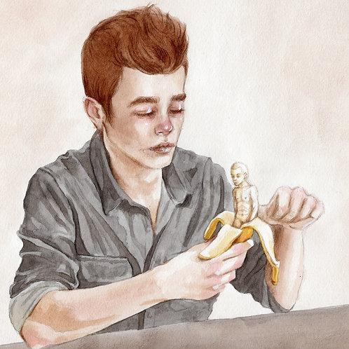 Bananaman // Original Watercolour