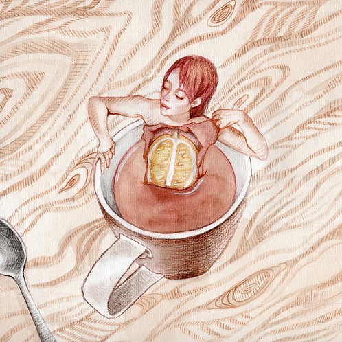 Lemon Black Tea // Original Watercolour
