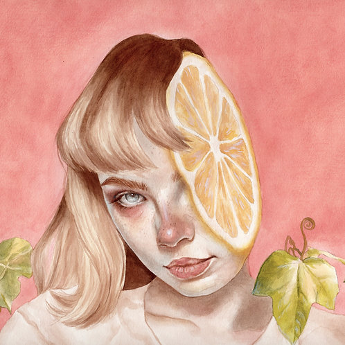 Lemon Pooky // Original Watercolour
