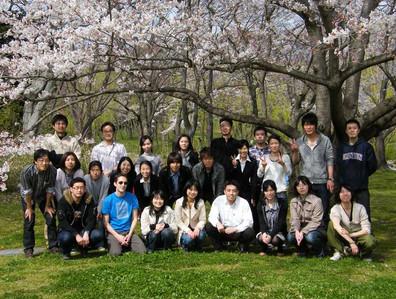 春のお花見。万博公園にて。