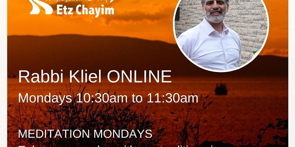 Online - Meditation Mondays with Rabbi Kliel (5)