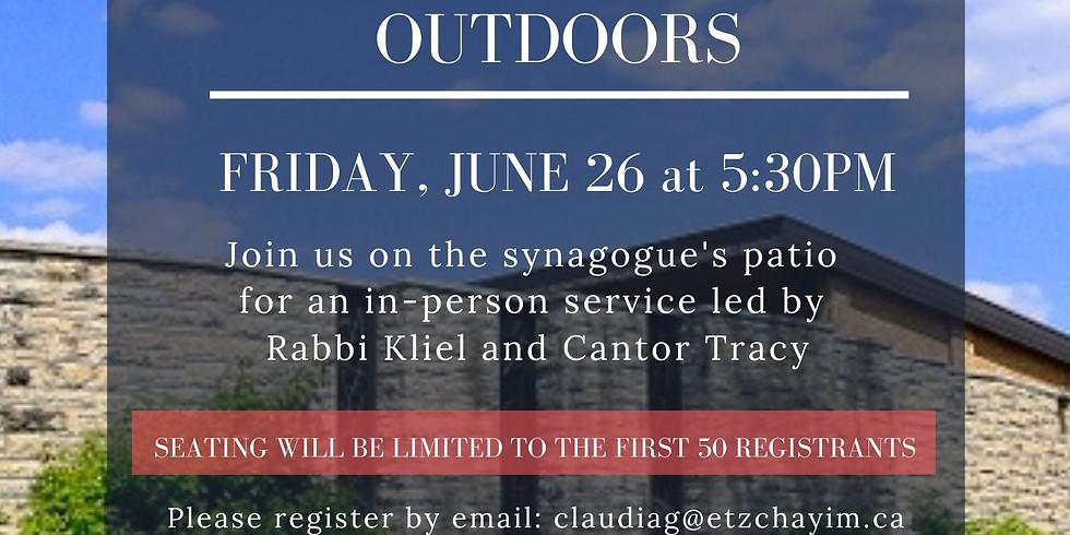 Kabbalat Shabbat Outdoors (REGISTRATION IS NOW FULL)