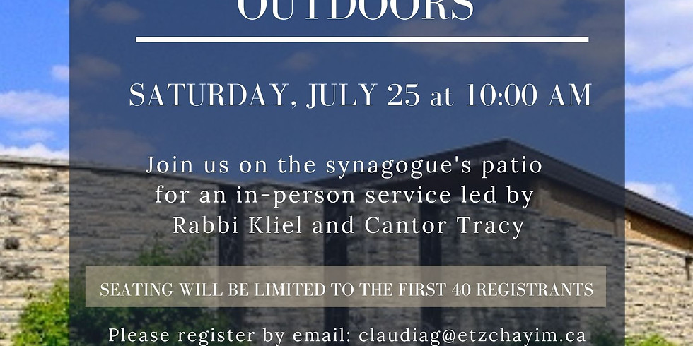 Shabbat Morning Outdoors Service