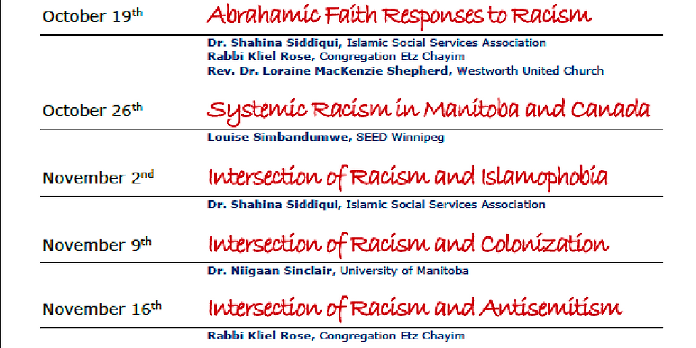 Systemic Racism in Manitoba and Canada