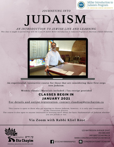 Journeying into Judaism 2021