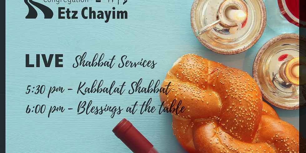 ONLINE Kabbalat Shabbat + Blessings at the Shabbat Table