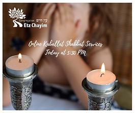 ONLINE KABBALAT SHABBAT SERVICES | CONGREGATION ETZ CHAYIM