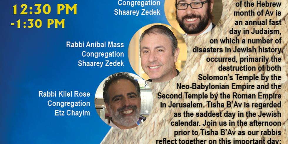 Tisha B'Av Rabbis' Panel