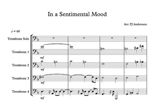 In a sentimental mood 5 tenor trombones