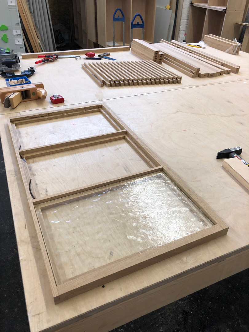 Vorbereitung Rahmenkonstruktion