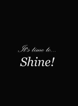It's time to shine black background for