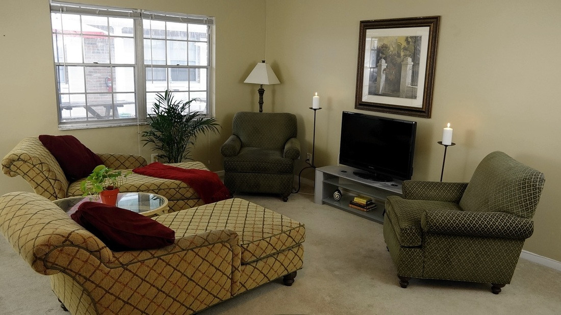 Druid Apartments Living Room