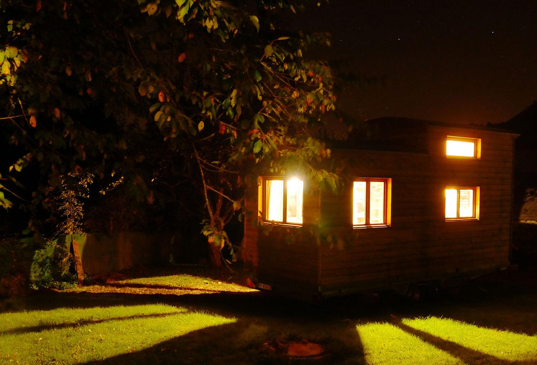 Tiny Nature et Projet Bois en nuit