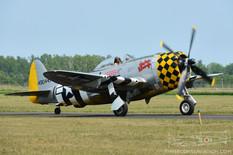 Thunder Over Michigan - 2014  Republic P-47D Thunderbolt 'Jacky's Revenge'  American Airpower Museum