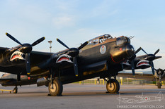 Canadian Warplane Heritage Museum Night Run - 2014  Avro Lancaster Mk.X 'Mynarski Memorial'  Canadian Warplane Heritage Museum