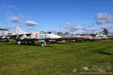 Central Air Force Museum  Mikoyan-Gurevich MiG-23 Flogger  Mikoyan-Gurevich MiG-21PFS Fishbed  Mikoyan-Gurevich MiG-19PM Farmer-E  Mikoyan-Gurevich MiG-17F Fresco-C  Mikoyan-Gurevich MiG-15UTI
