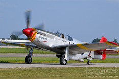 EAA AirVenture Oshkosh - 2019  North American P-51C Mustang 'Tuskegee Airmen'  CAF Red Tail Squadron