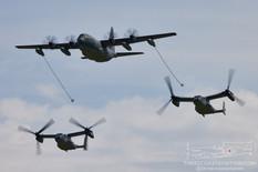 EAA AirVenture Oshkosh - 2021  Lockheed MC-130J Commando II  Bell CV-22 Osprey  United States Air Force