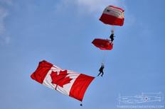 Airshow London - 2018  Canadian Forces Parachute Demonstration Team SkyHawks