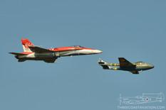 Airshow London - 2017  McDonnell Douglas CF-188 Hornet CF-18 Demo Team  de Havilland Vampire