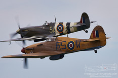 EAA AirVenture Oshkosh - 2021  Supermarine Spitfire Mk IXc 'Half Stork'  Hawker Hurricane Mk XII  Dakota Territory Air Museum