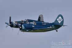 Thunder Over Michigan - 2018  Curtiss-Wright SB2C Helldiver  Goodyear FG-1D Corsair '530'  Commemorative Air Force