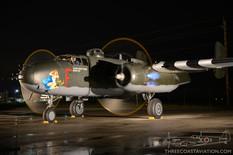 Canadian Warplane Heritage Museum Night Run - 2015  North American B-25J Mitchell 'Hot Gen'   Canadian Warplane Heritage Museum