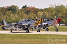 Gathering of Mustangs & Legends - 2007  North American P-51D Mustang 'Double Trouble Two'  North American P-51D Mustang 'Shangrila'