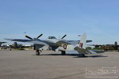 Canadian Warplane Heritage Museum Night Run - 2014  de Havilland DH-98 Mosquito FB.26  Military Aviation Museum