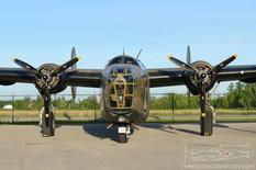 Canadian Warplane Heritage Museum Night Run - 2014  Consolidated B-24 Liberator 'Diamond Lil'  Commemorative Air Force