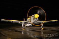 Canadian Warplane Heritage Museum Night Run - 2015  North American Mustang IV  Vintage Wings of Canada