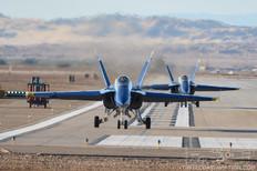NAF El Centro - Jan 29, 2018  McDonnell Douglas F/A-18A Hornet  US Navy Flight Demonstration Squadron Blue Angels