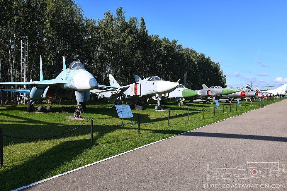 Central Air Force Museum - Sukhoi Lineup