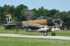 Thunder Over Michigan - 2012  Douglas AD-4N Skyraider 'Naked Fanny'