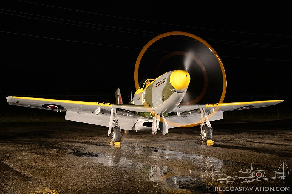 Canadian Warplane Heritage Museum Night Run - 2015 - Mustang IV