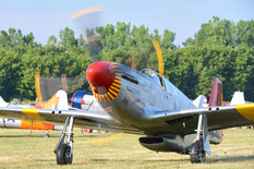 Geneseo Airshow - 2012  North American P-51C Mustang 'By Request'  Red Tail Squadron - Commemorative Air Force