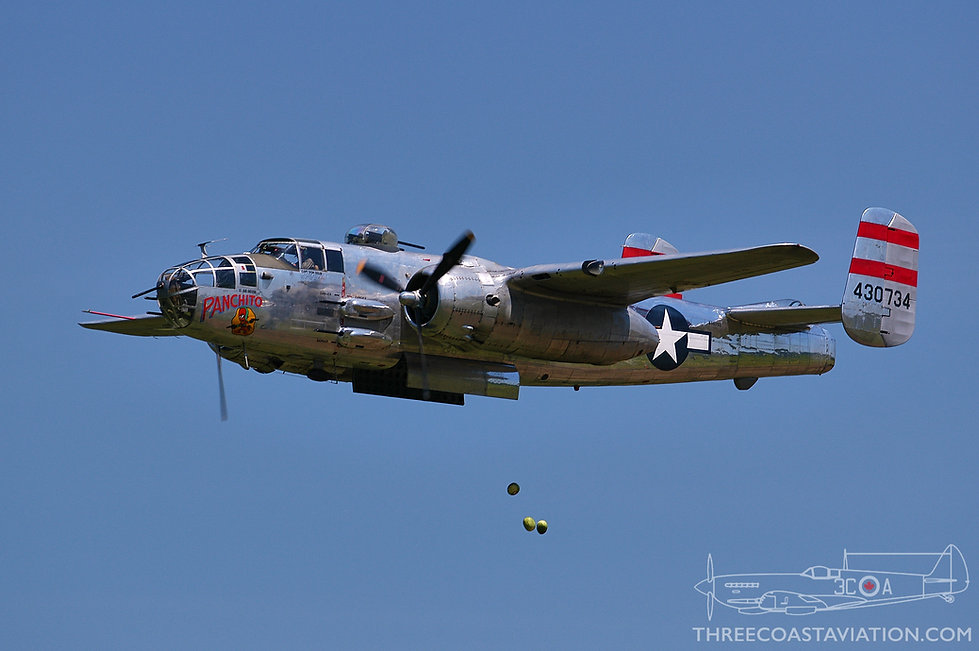 B-25 Mitchell 'Panchito' drops watermelons during the 2005 Geneseo Airshow