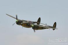 Thunder Over Michigan - 2014  Lockheed P-38L Lightning 'Ruff Stuff'  Fagen Fighters WWII Museum