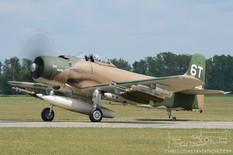 Thunder Over Michigan - 2017  Douglas AD-1 Skyraider 'Bad News'  Warbird Heritage Foundation