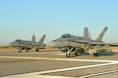 NAF El Centro - Oct 24, 2012  McDonnell Douglas F/A-18C Hornet  VMFA-115 Silver Eagles - United States Marine Corps